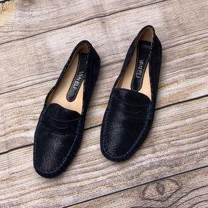 Vaneli Dark Blue Suede Loafers
